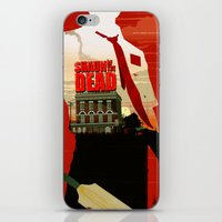 shaun of the dead iPhone & iPod Skins featuring Shaun Of The Dead by Duke Dastardly