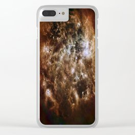 brown white smoke 4/26/2017 Clear iPhone Case