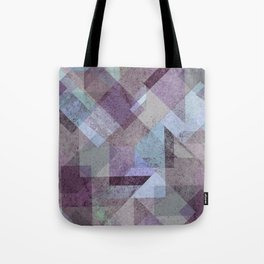 PLUM TURQUOISE ABSTRACT GEOMETRIC Tote Bag