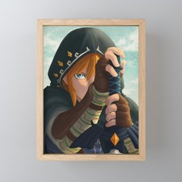Link botw Artwork Framed Mini Art Print
