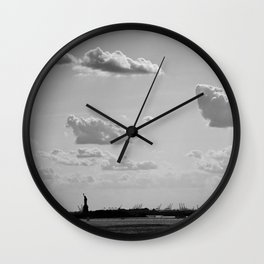 Black and White Silhouette Lady Wall Clock
