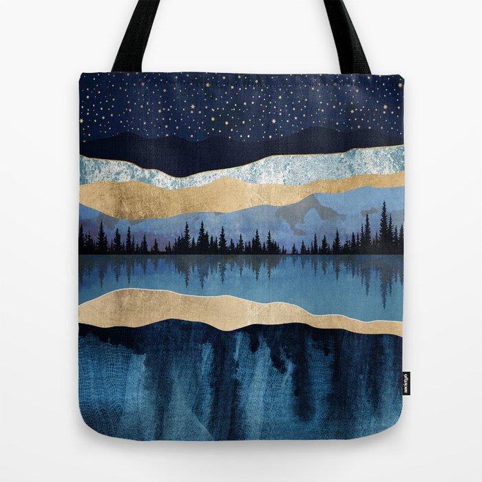 Midnight Lake Tote Bag