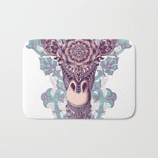 Giraffe (Color Version) Bath Mat