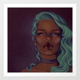 Steely eyes Art Print