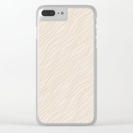 Cavern Clay SW 7701 Thin Pinstripe Angled Lines on Creamy Off White SW7012 Clear iPhone Case