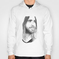 jared leto Hoodies featuring Jared Leto by Art by Cathrine Gressum
