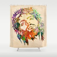 jesus Shower Curtains featuring JESUS  by mark ashkenazi