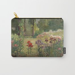 Theodore Clement Steele - Iris and Trees. In The Flower Garden Carry-All Pouch