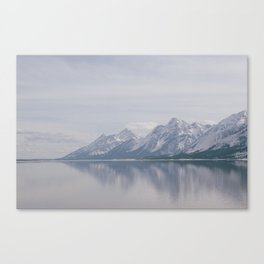 Water and Mountains  Canvas Print