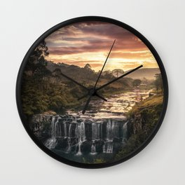 Fire & Water Wall Clock