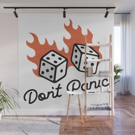 Don't Panic - Dice Wall Mural