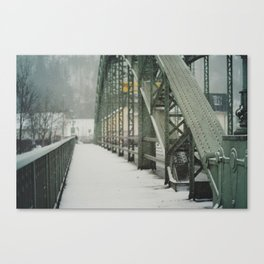 snow in wels (6) Canvas Print