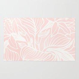 Pink Coral Floral Garden Rug