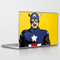 bucky Laptop & iPad Skins featuring bucky!cap by zombietonbo