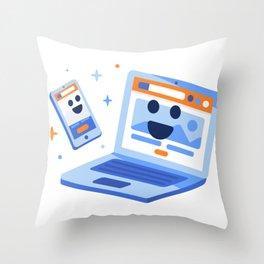 Device Buddies! Throw Pillow