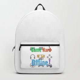 Game Hard or Get Offline! (NUGaming) Backpack