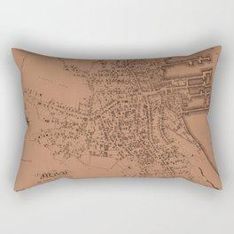 Map of Nantucket 1834 Rectangular Pillow