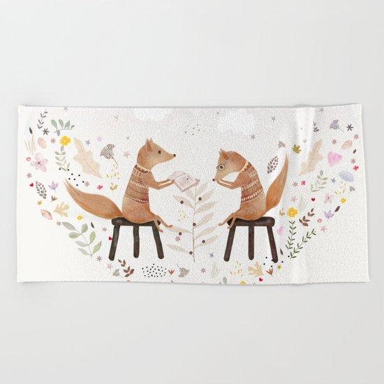 fox philosophers Beach Towel