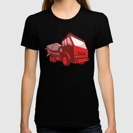 cement truck lorry retro style T-shirt