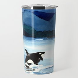 Orca Breach Travel Mug
