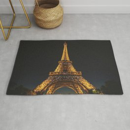 Eiffel Tower Paris City Rug