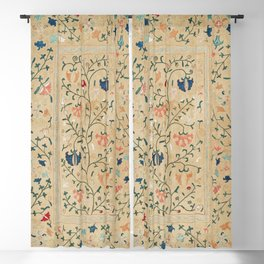 Uzbekistan Suzani Nim Embroidery Print Blackout Curtain
