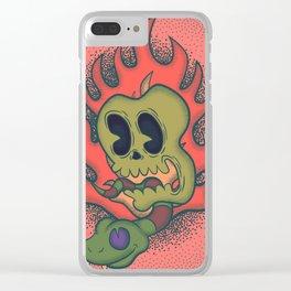 Cartoony Skull Clear iPhone Case