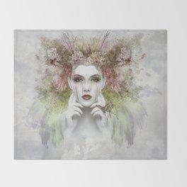 Springtime Goddess Throw Blanket
