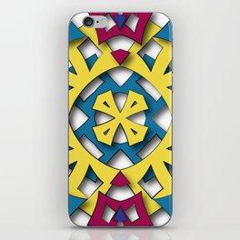 abstract aztec sun iPhone Skin