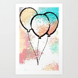 Birthday Balloons Art Print