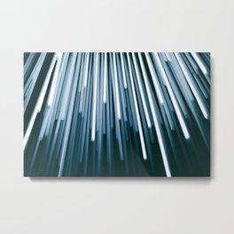 Fibres of Light Metal Print