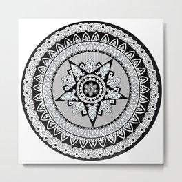Captain's Shield Mandala Metal Print