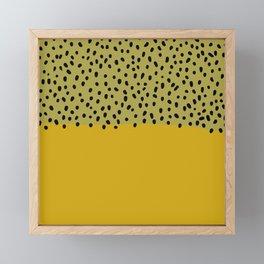 Abstract mustard mid century art Framed Mini Art Print