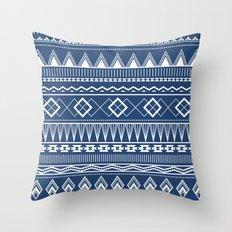 Geo Pattern Indigo Throw Pillow