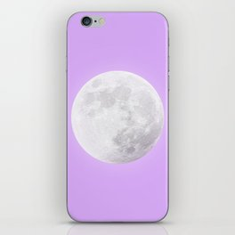 WHITE MOON + LAVENDER SKY iPhone Skin