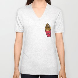Ok, but first, fries Unisex V-Neck