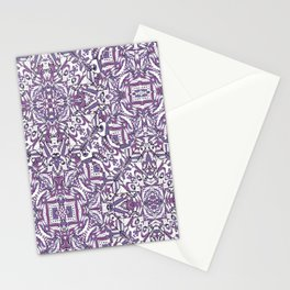 Colorful Intricate Geometric Tribal Pattern Stationery Cards