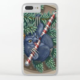Evergreen Bauble Sloth Clear iPhone Case