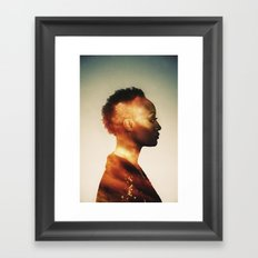 Thoughts of summer Framed Art Print