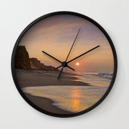 Falesia sunrise, Portugal Wall Clock