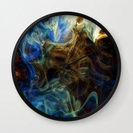 fire smoke 3 Wall Clock