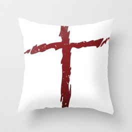 Rugged Cross Throw Pillow