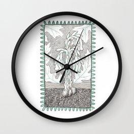 Indianpipe Woodland Native Wall Clock
