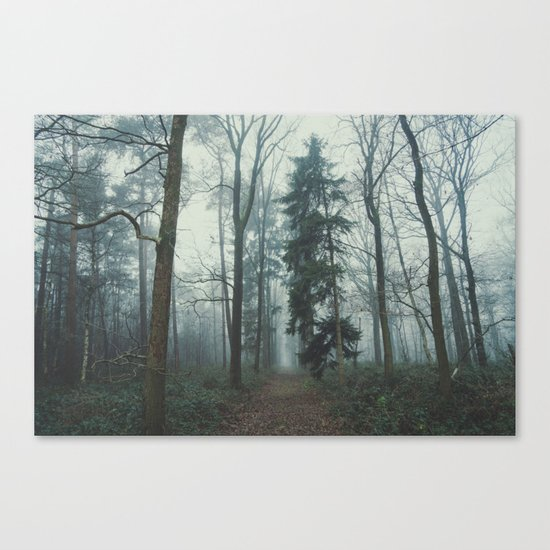 Misty Woods II #adventure #photography Canvas Print
