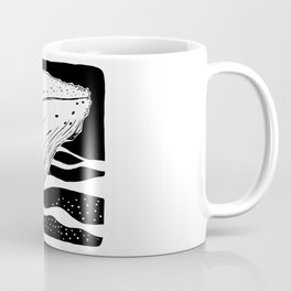 Black and white whale drawing Coffee Mug