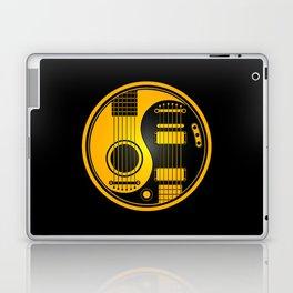 Yellow and Black Acoustic Electric Yin Yang Guitars Laptop & iPad Skin