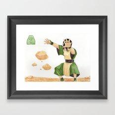 Avatar - Earth Bending Framed Art Print