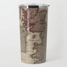 Vintage Map of The British Isles (1617) Travel Mug