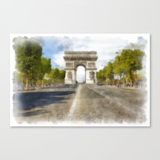 Paris - Arc de Triomphe Canvas Print