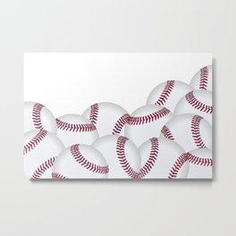 Pile of Baseballs  Metal Print